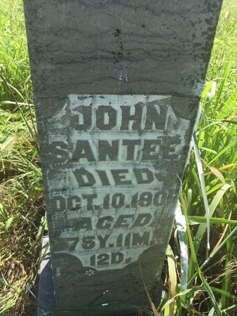 SANTEE, JOHN - Grant County, Oklahoma | JOHN SANTEE - Oklahoma Gravestone Photos
