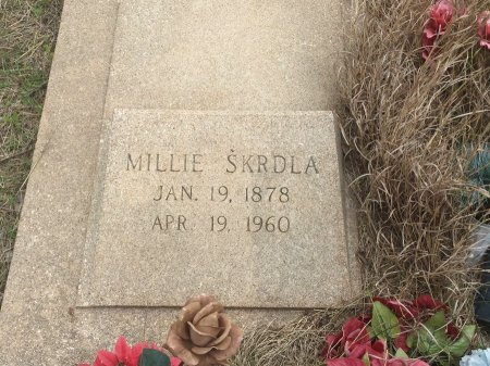 SKRDLA, MILLIE (SECOND MARKER) - Grant County, Oklahoma | MILLIE (SECOND MARKER) SKRDLA - Oklahoma Gravestone Photos