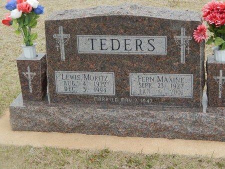 TEDERS, LEWIS MORITZ - Grant County, Oklahoma   LEWIS MORITZ TEDERS - Oklahoma Gravestone Photos