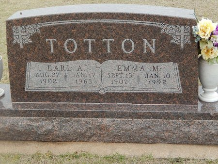 TOTTON, EMMA M - Grant County, Oklahoma | EMMA M TOTTON - Oklahoma Gravestone Photos