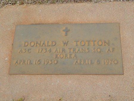 TOTTON (VETERAN KOR), DONALD W - Grant County, Oklahoma   DONALD W TOTTON (VETERAN KOR) - Oklahoma Gravestone Photos