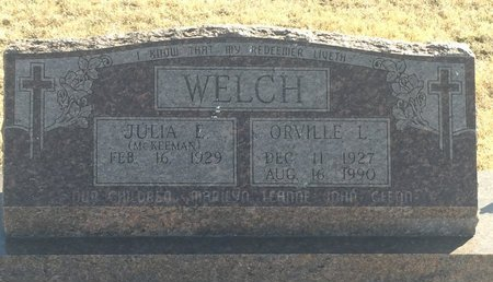 WELCH, ORVILLE L - Grant County, Oklahoma | ORVILLE L WELCH - Oklahoma Gravestone Photos