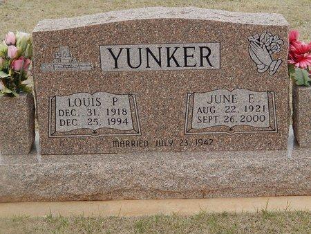 YUNKER, JUNE E - Grant County, Oklahoma | JUNE E YUNKER - Oklahoma Gravestone Photos