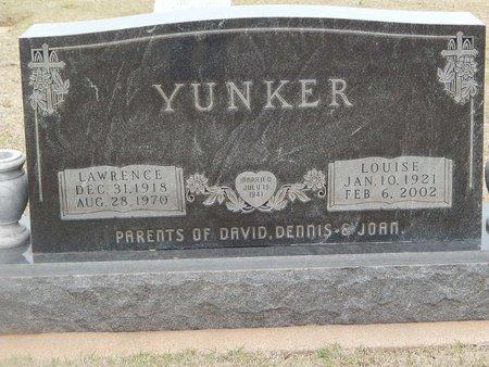 YUNKER, LAWRENCE - Grant County, Oklahoma | LAWRENCE YUNKER - Oklahoma Gravestone Photos