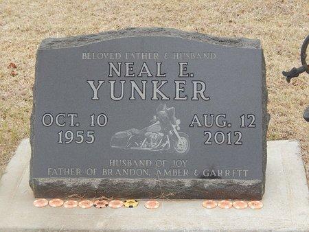 YUNKER, NEAL E - Grant County, Oklahoma | NEAL E YUNKER - Oklahoma Gravestone Photos