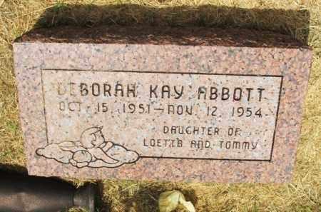 ABBOTT, DEBORAH KAY - Greer County, Oklahoma | DEBORAH KAY ABBOTT - Oklahoma Gravestone Photos