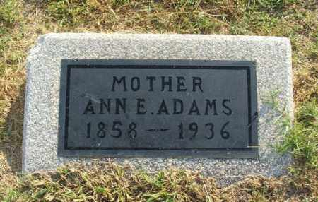 ADAMS, ANN E - Greer County, Oklahoma | ANN E ADAMS - Oklahoma Gravestone Photos