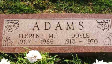 ADAMS, DOYLE - Greer County, Oklahoma | DOYLE ADAMS - Oklahoma Gravestone Photos