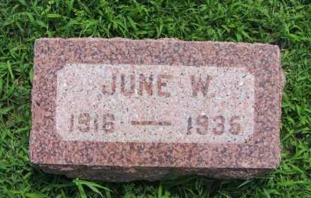 ADAMS, JUNE W - Greer County, Oklahoma | JUNE W ADAMS - Oklahoma Gravestone Photos