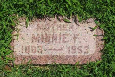 ADAMS, MINNIE F - Greer County, Oklahoma | MINNIE F ADAMS - Oklahoma Gravestone Photos