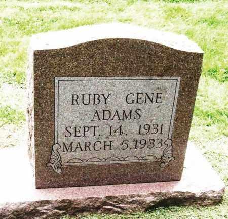 ADAMS, RUBY GENE - Greer County, Oklahoma   RUBY GENE ADAMS - Oklahoma Gravestone Photos