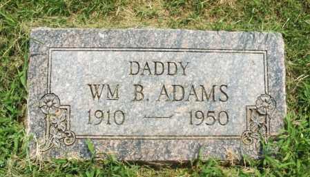 ADAMS, WILLIAM B - Greer County, Oklahoma | WILLIAM B ADAMS - Oklahoma Gravestone Photos