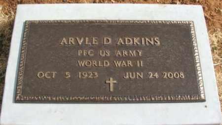 ADKINS (VETERAN WWII), ARVLE DOLLIE - Greer County, Oklahoma | ARVLE DOLLIE ADKINS (VETERAN WWII) - Oklahoma Gravestone Photos