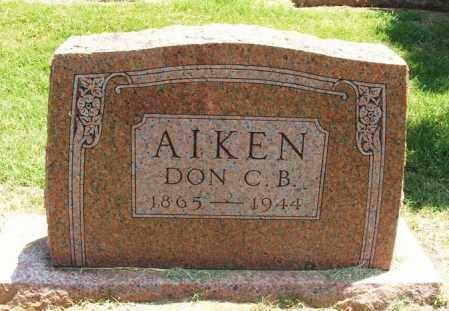 AIKEN, DON C B - Greer County, Oklahoma | DON C B AIKEN - Oklahoma Gravestone Photos