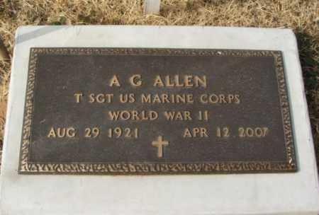ALLEN (VETERAN WWII), A G - Greer County, Oklahoma | A G ALLEN (VETERAN WWII) - Oklahoma Gravestone Photos