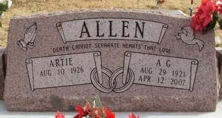 ALLEN, A G - Greer County, Oklahoma | A G ALLEN - Oklahoma Gravestone Photos