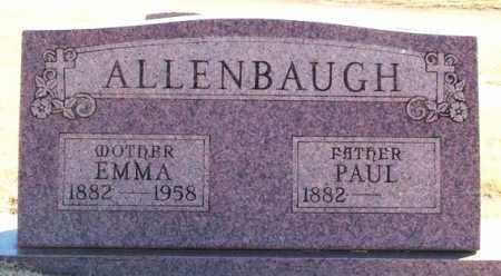 ALLENBAUGH, PAUL - Greer County, Oklahoma | PAUL ALLENBAUGH - Oklahoma Gravestone Photos