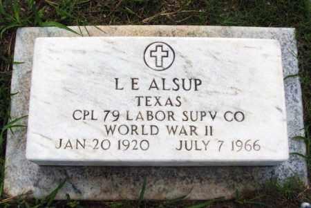 ALSUP (VETERAN WWII), L E - Greer County, Oklahoma | L E ALSUP (VETERAN WWII) - Oklahoma Gravestone Photos