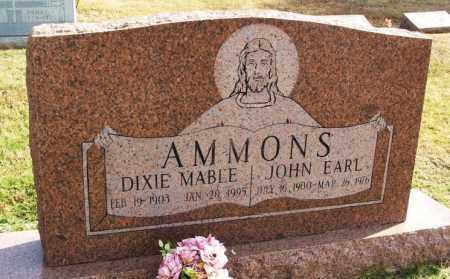 AMMONS, DIXIE MABLE - Greer County, Oklahoma | DIXIE MABLE AMMONS - Oklahoma Gravestone Photos