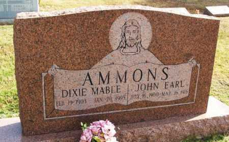AMMONS, DIXIE MABLE - Greer County, Oklahoma | DIXIE MABLE AMMONS - Oklahoma Gravestone Photos