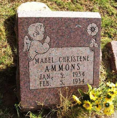 AMMONS, MABEL CHRISTENE - Greer County, Oklahoma   MABEL CHRISTENE AMMONS - Oklahoma Gravestone Photos