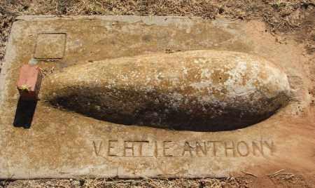 ANTHONY, VERTIE - Greer County, Oklahoma | VERTIE ANTHONY - Oklahoma Gravestone Photos