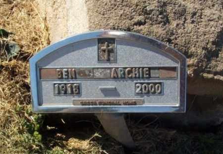ARCHIE, BEN - Greer County, Oklahoma   BEN ARCHIE - Oklahoma Gravestone Photos