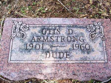 "ARMSTRONG, OTIS D ""DUDE"" - Greer County, Oklahoma | OTIS D ""DUDE"" ARMSTRONG - Oklahoma Gravestone Photos"