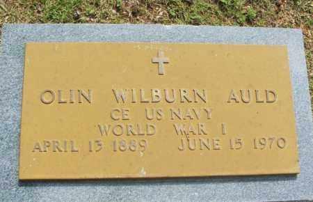 AULD (VETERAN WWI), OLIN WILBURN - Greer County, Oklahoma | OLIN WILBURN AULD (VETERAN WWI) - Oklahoma Gravestone Photos