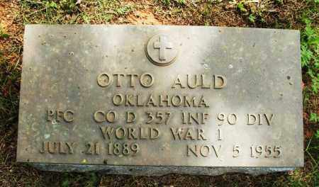 AULD (VETERAN WWI), OTTO - Greer County, Oklahoma | OTTO AULD (VETERAN WWI) - Oklahoma Gravestone Photos