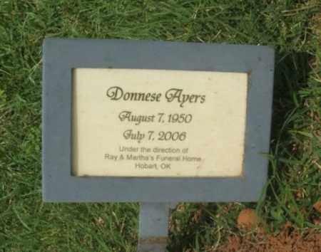 AYERS, DONNESE - Greer County, Oklahoma | DONNESE AYERS - Oklahoma Gravestone Photos