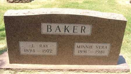 BAKER, MINNIE VERA - Greer County, Oklahoma | MINNIE VERA BAKER - Oklahoma Gravestone Photos