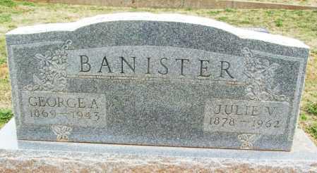 BANISTER, GEORGE A - Greer County, Oklahoma | GEORGE A BANISTER - Oklahoma Gravestone Photos