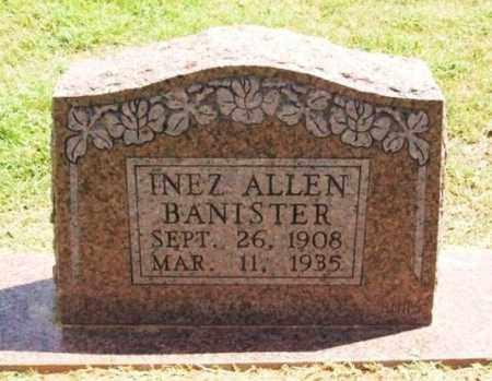 ALLEN BANISTER, INEZ - Greer County, Oklahoma | INEZ ALLEN BANISTER - Oklahoma Gravestone Photos