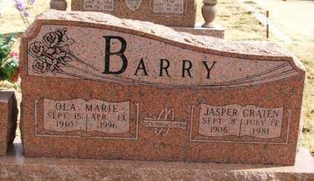 BARRY, JASPER CRATEN - Greer County, Oklahoma | JASPER CRATEN BARRY - Oklahoma Gravestone Photos