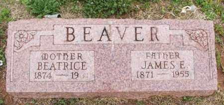 BEAVER, JAMES E - Greer County, Oklahoma | JAMES E BEAVER - Oklahoma Gravestone Photos