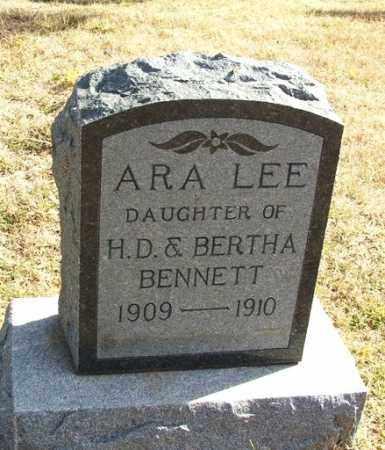 BENNETT, ARA LEE - Greer County, Oklahoma | ARA LEE BENNETT - Oklahoma Gravestone Photos