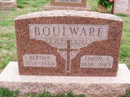 BOULWARE, SIMON L - Greer County, Oklahoma | SIMON L BOULWARE - Oklahoma Gravestone Photos