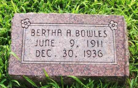 BOWLES, BERTHA A - Greer County, Oklahoma | BERTHA A BOWLES - Oklahoma Gravestone Photos