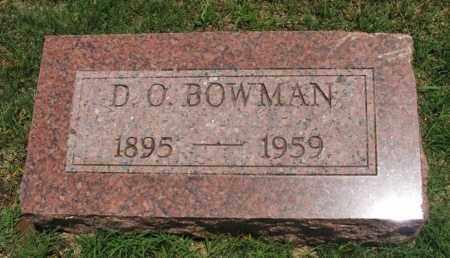BOWMAN, D O - Greer County, Oklahoma | D O BOWMAN - Oklahoma Gravestone Photos