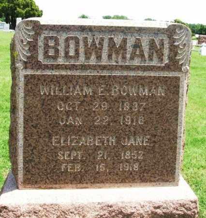 BOWMAN, ELIZABETH JANE - Greer County, Oklahoma | ELIZABETH JANE BOWMAN - Oklahoma Gravestone Photos