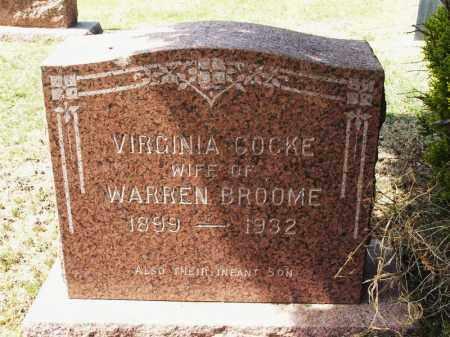 BROOME, VIRGINIA - Greer County, Oklahoma | VIRGINIA BROOME - Oklahoma Gravestone Photos