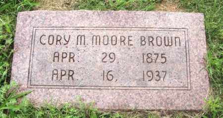 MOORE BROWN, CORY M - Greer County, Oklahoma   CORY M MOORE BROWN - Oklahoma Gravestone Photos