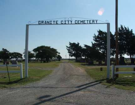 *GRANITE CITY, *ENTRANCE - Greer County, Oklahoma | *ENTRANCE *GRANITE CITY - Oklahoma Gravestone Photos