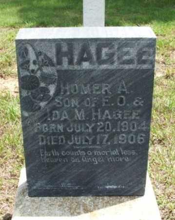 HAGEE, HOMER A - Greer County, Oklahoma   HOMER A HAGEE - Oklahoma Gravestone Photos
