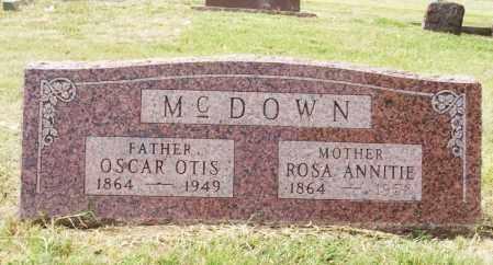 MCDOWN, OSCAR OTIS - Greer County, Oklahoma | OSCAR OTIS MCDOWN - Oklahoma Gravestone Photos