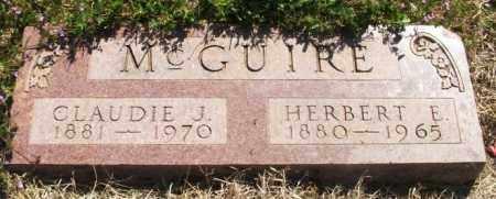 MCGUIRE, HERBERT EDWARD - Greer County, Oklahoma | HERBERT EDWARD MCGUIRE - Oklahoma Gravestone Photos