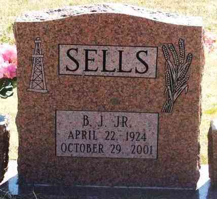 "SELLS, JR, BOSS JOHNSON ""B J"" - Greer County, Oklahoma | BOSS JOHNSON ""B J"" SELLS, JR - Oklahoma Gravestone Photos"
