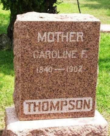 THOMPSON, CAROLINE FRANCIS - Greer County, Oklahoma   CAROLINE FRANCIS THOMPSON - Oklahoma Gravestone Photos