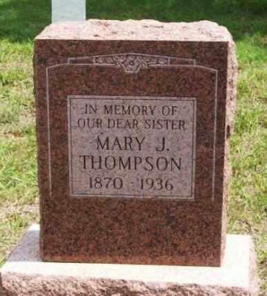THOMPSON, MARY J - Greer County, Oklahoma   MARY J THOMPSON - Oklahoma Gravestone Photos